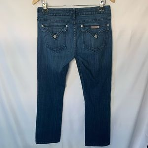 Hudson straight leg jeans with back flap button